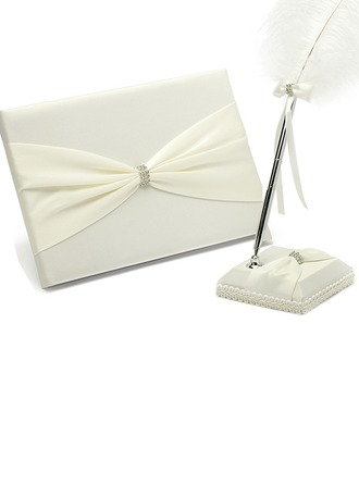 Jolie Strass/Bow Livres d'or & Ensemble de crayon