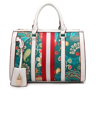Lovely PU Boston Bags