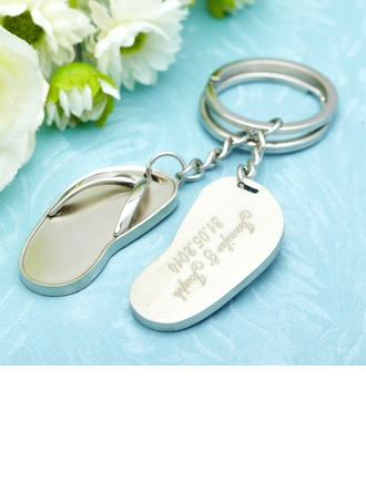 Personalized Flip-flop Stainless Steel Keychains