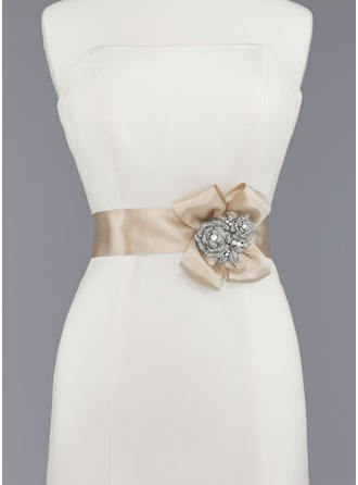 Stylish Satin Sash With Beading/Flower