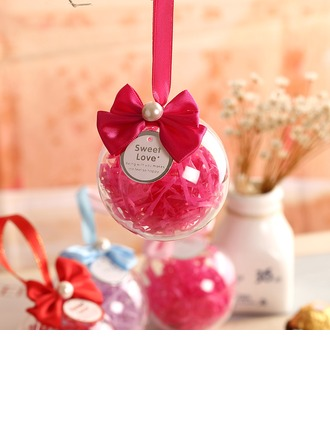Ball Favor Tin With Bow