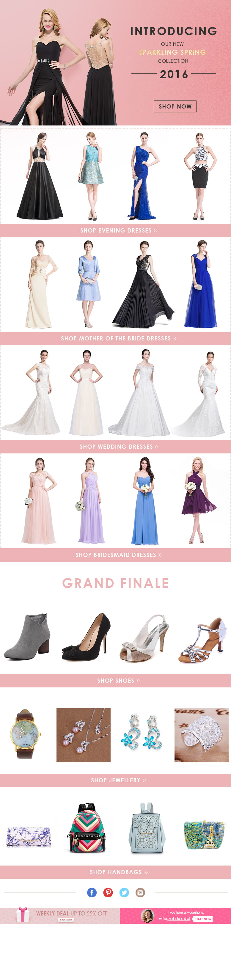 New Sparkling Spring Collection 2016 Up To 60 Off