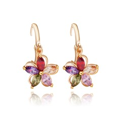 Fashional Copper/Zircon/Platinum Plated Ladies' Earrings