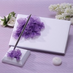 Beautiful Petals/Flower Guestbook & Pen Set