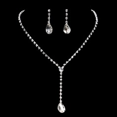 Beautiful Alloy With Rhinestone Ladies' Jewelry Sets