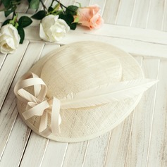 Ladies' Elegant With Feather Floppy Hat