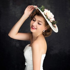 Ladies' Beautiful Linen With Flower Fascinators