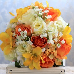 Lovely Hand-tied Artificial Silk/Lace Bridal Bouquets