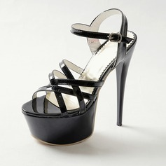 Women's Leatherette Stiletto Heel Sandals Pumps shoes (087093369)