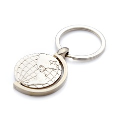 Personalized Globes Stainless Steel Keychains  (118029915)