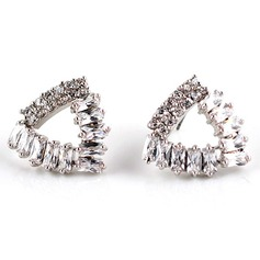 Charming Zircon/Platinum Plated Ladies' Earrings