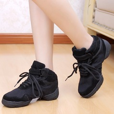 Women's Kids' Canvas Sneakers Practice With Lace-up Dance Shoes