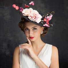 Ladies' Elegant Tulle/Linen With Flower Fascinators