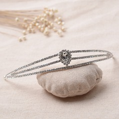 Ladies Simple Alloy/Platinum Plated Tiaras