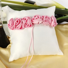 Ring Pillow With Rose Lined
