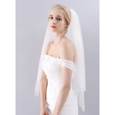 Cut Edge Fingertip Bridal Veils