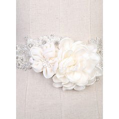 Nice Satin Sash With Flower/Rhinestones