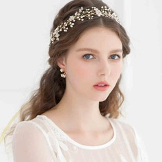 Fashion Rhinestone/Imitation Pearls Headbands