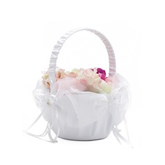Satin With Imitation Pearls/Ribbon Flower Basket (198076199)