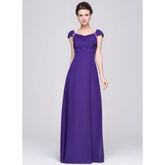 Empire Cowl Neck Floor-Length Chiffon Mother of the Bride Dress With Ruffle Beading Sequins