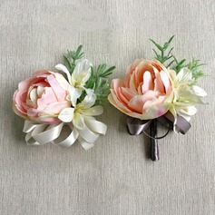 Charming Artificial Silk Flower Sets (set of 2) - Wrist Corsage/Boutonniere