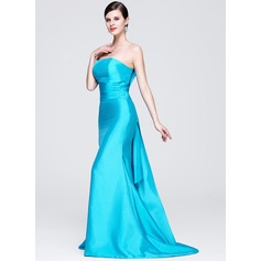 Trumpet/Mermaid Strapless Sweep Train Taffeta Evening Dress