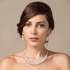 Fashional Rhinestones/Copper/Platinum Plated Ladies' Jewelry Sets