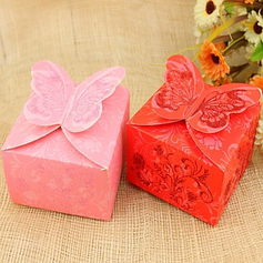 Butterfly Theme Cuboid Favor Boxes