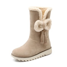 Women's Suede Low Heel Closed Toe Ankle Boots shoes