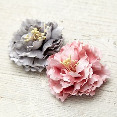 Beautiful Metal Silk Fashion Brooches (Sold in a single piece)