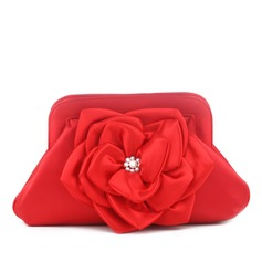Charming Silk With Flower Clutches