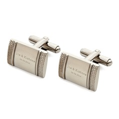 Personalized Classic Style Stainless Steel Cufflinks (200081046)