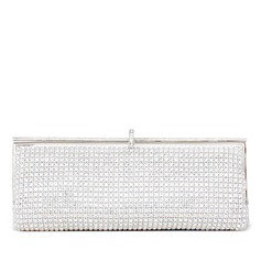 Charming Metal With Czech Stones Clutches