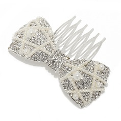 Elegant Alloy/Imitation Pearls Combs & Barrettes