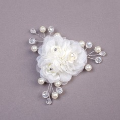 Lovely Imitation Pearls/Net Yarn Combs & Barrettes