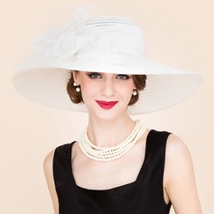 Ladies' Amazing Spring/Summer/Autumn Papyrus/Tulle With Floppy Hat