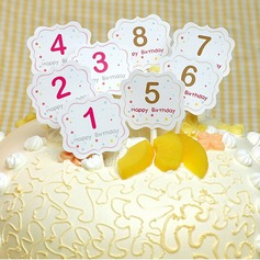Number Paper Cake Topper