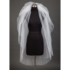 Six-tier Cut Edge Fingertip Bridal Veils