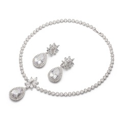 Attractive Zircon Ladies' Jewelry Sets