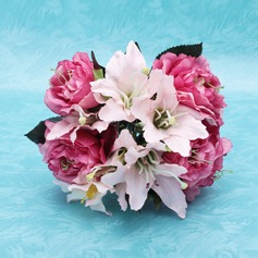 Nice Hand-tied Satin Bridesmaid Bouquets