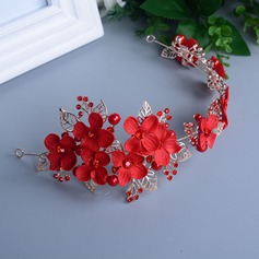 Amazing Rhinestone/Alloy/Imitation Pearls Flowers & Feathers/Headbands