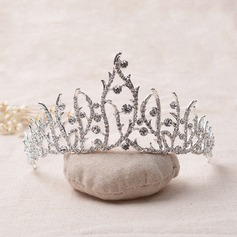 Ladies Eye-catching Alloy/Platinum Plated Tiaras