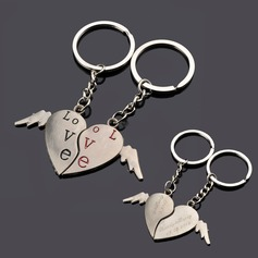 Personalized Flying Hearts Zinc Alloy Keychains