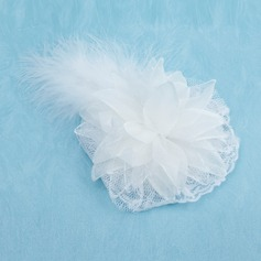Gorgeous Tulle/ Feather With Rhinestone Wedding Bridal Flowers/ Headpiece