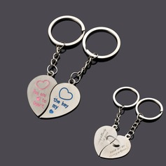 Personalized Heart Shaped Zinc Alloy Keychains