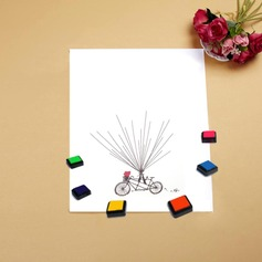 Bicycle and Balloon Signature Canvas