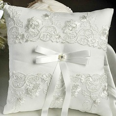 Lovely Ring Pillow in Satin With Ribbons/Lace