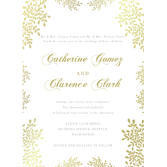 Modern Style Invitation Cards