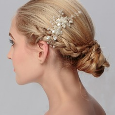 Beautiful/Flower Shaped Rhinestone/Alloy/Imitation Pearls Combs & Barrettes (Sold in single piece)