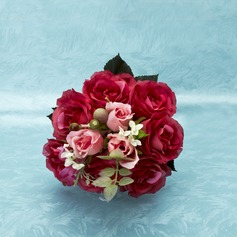 Eye-catching Hand-tied Satin Bridal Bouquets